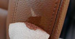 Kratzer aus Leder entfernen
